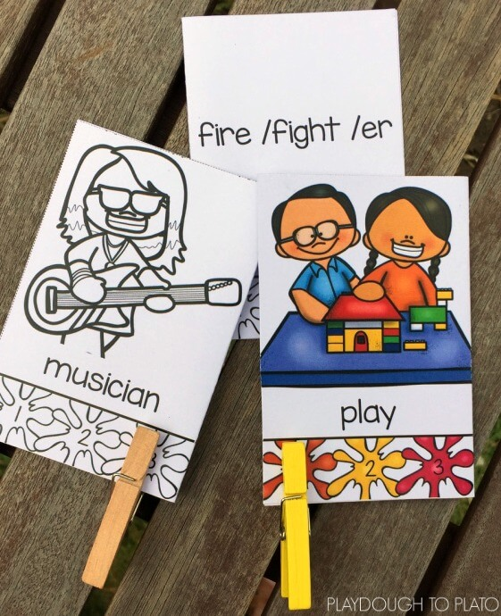 Learn about syllables with these free clip cards. They're self-checking which is a great bonus!