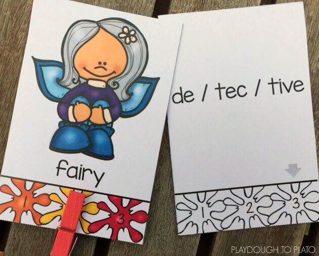 Practice syllables with these free self-checking syllable clip cards!