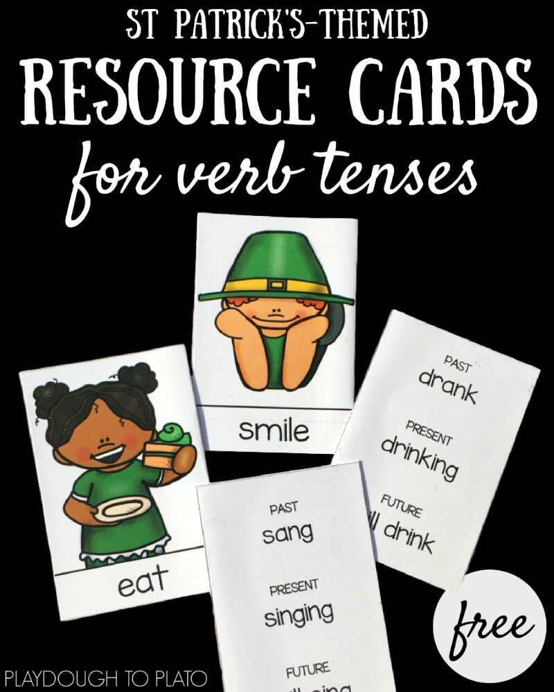 St. Patrick's Verb Tense Cards