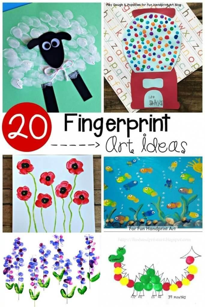 20 Adorable Fingerprint Art Ideas Playdough To Plato