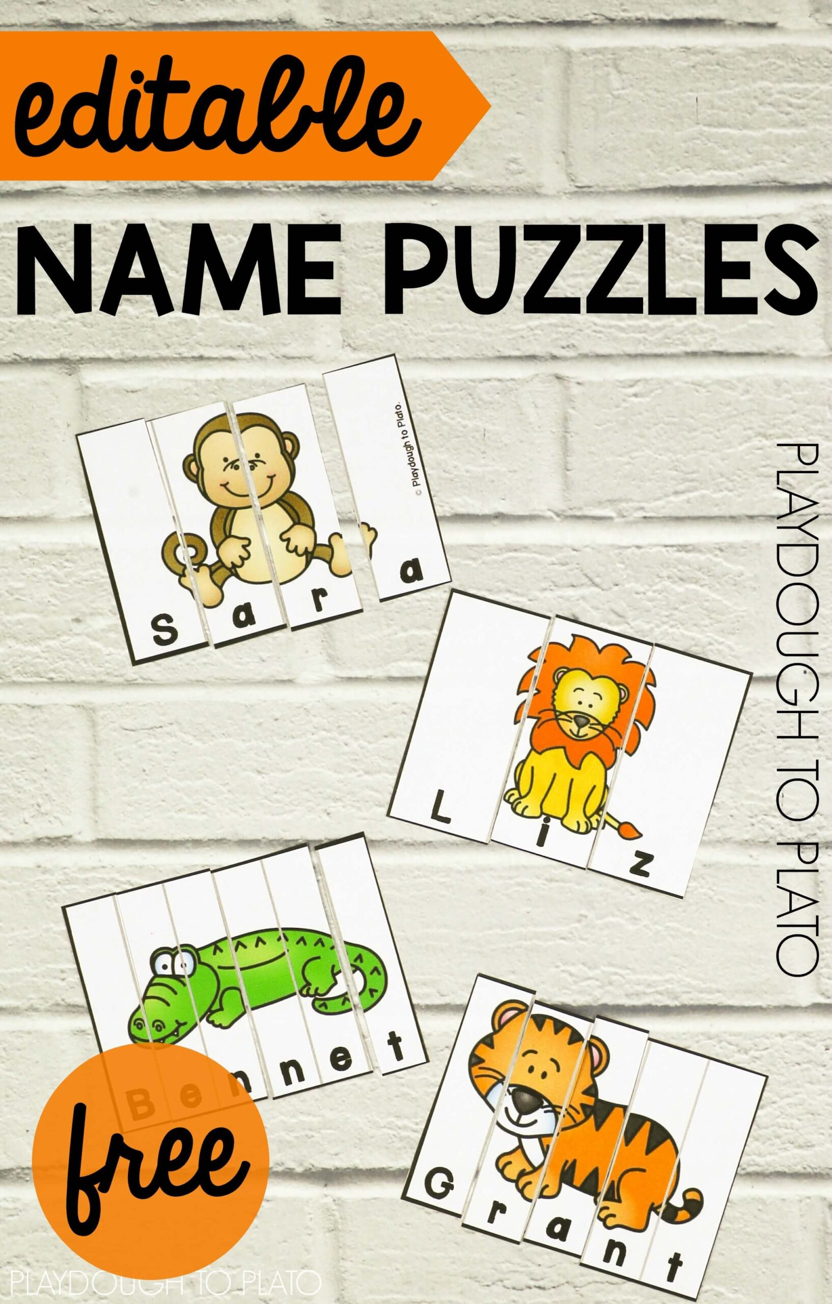 Zoo Name Puzzles