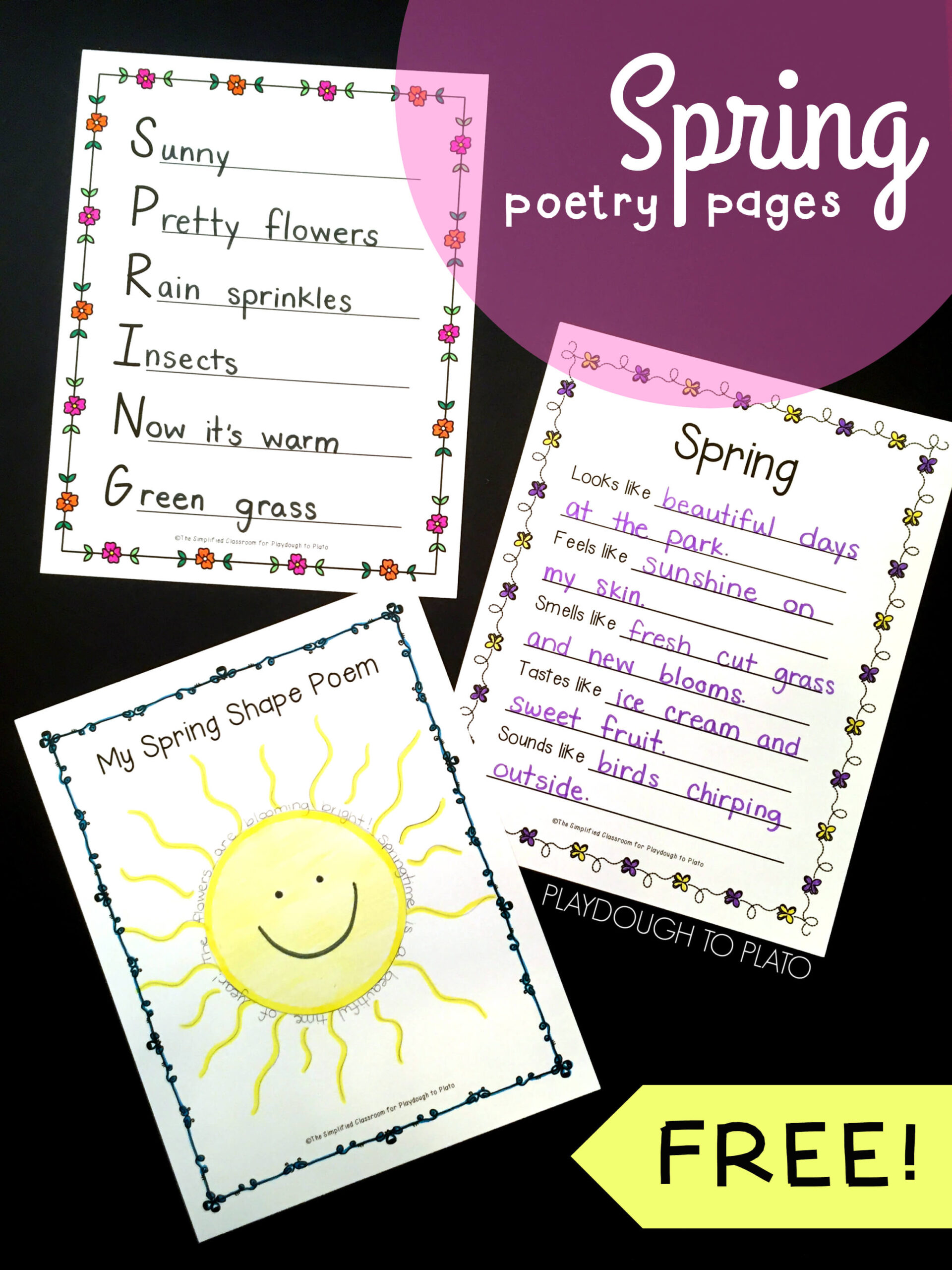 Spring Poetry Pages
