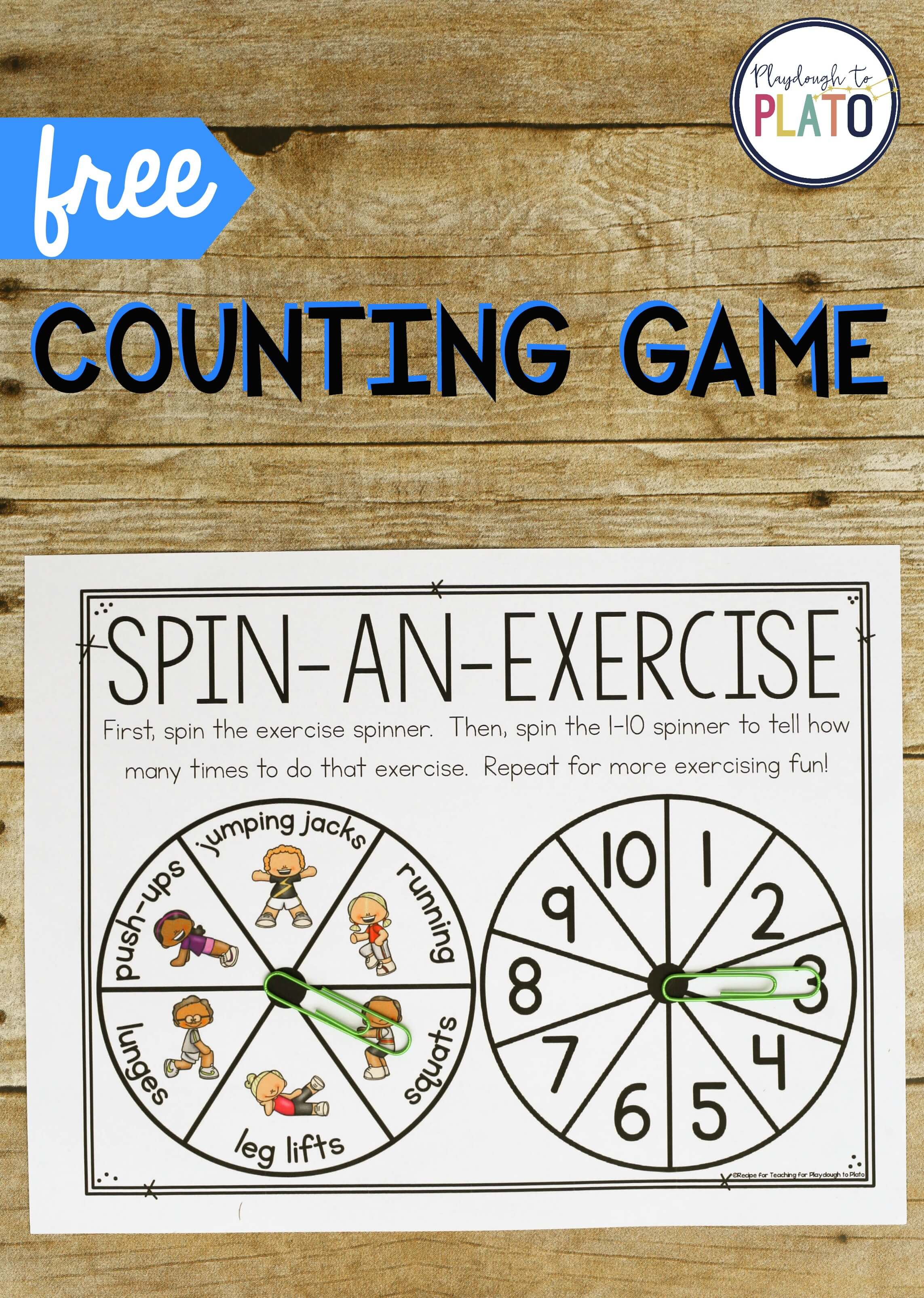 Exercise Counting Game Playdough To Plato