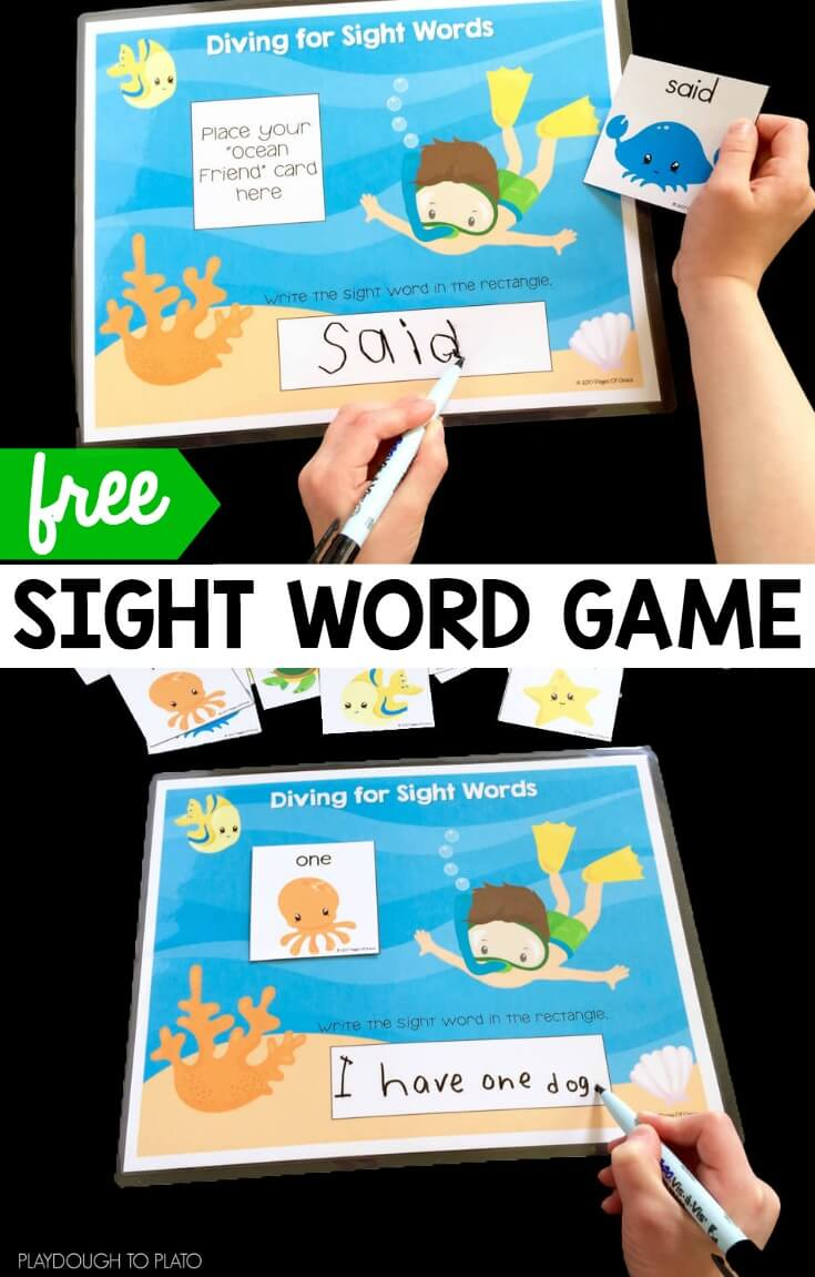 Diving for Sight Words