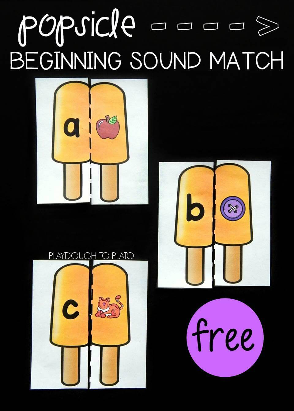Popsicle Beginning Sound Match