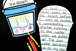Beach Bucket Writing