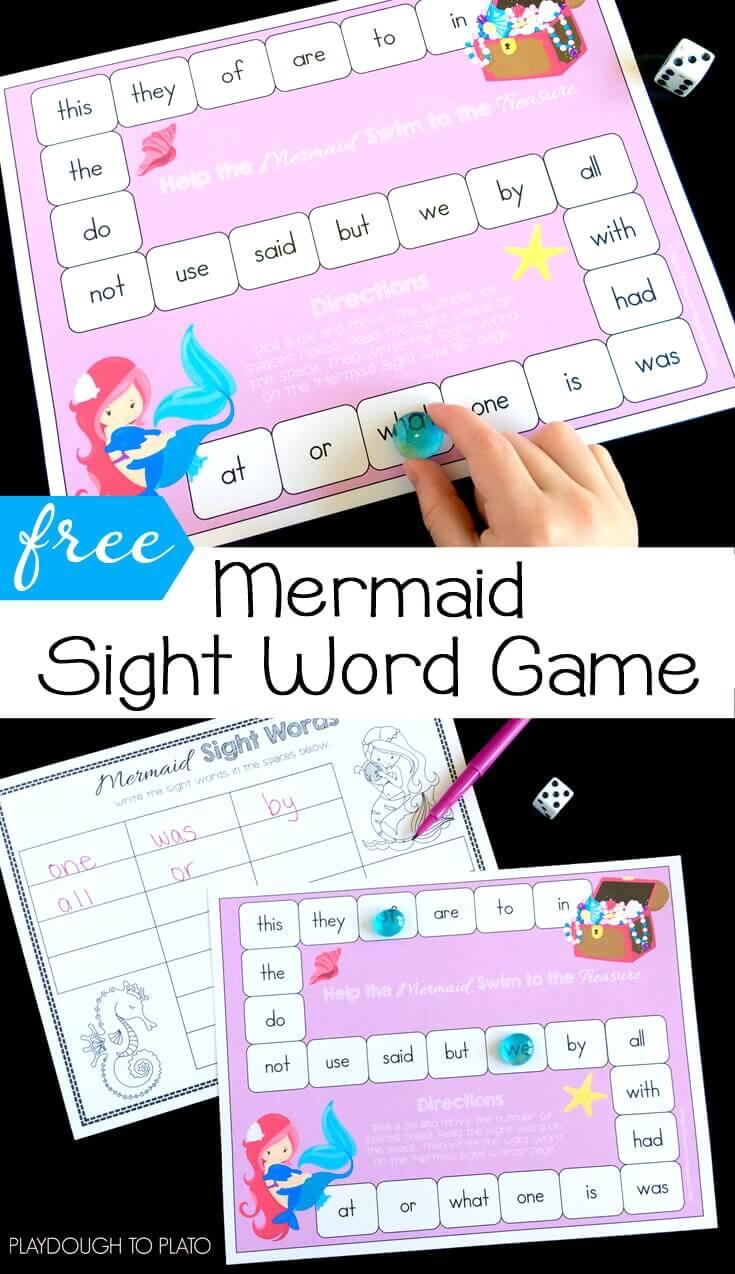 Mermaid Sight Word Game