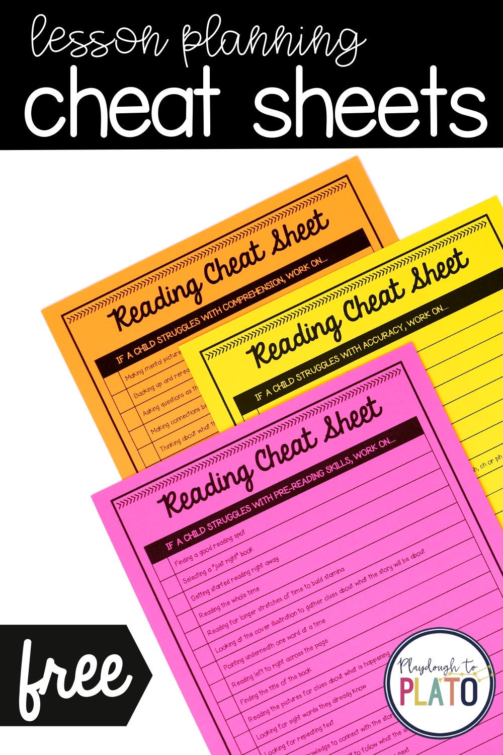 Lesson Planning Cheat Sheets