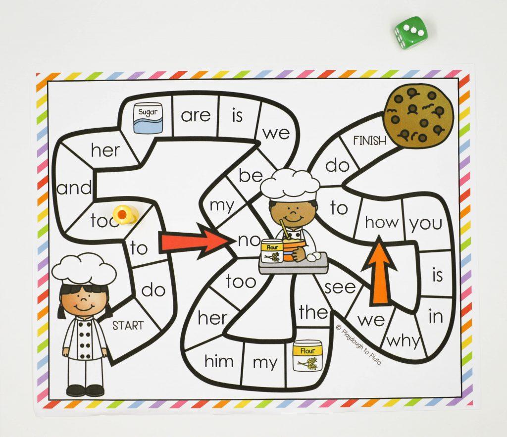 cookie word work game playdough to plato