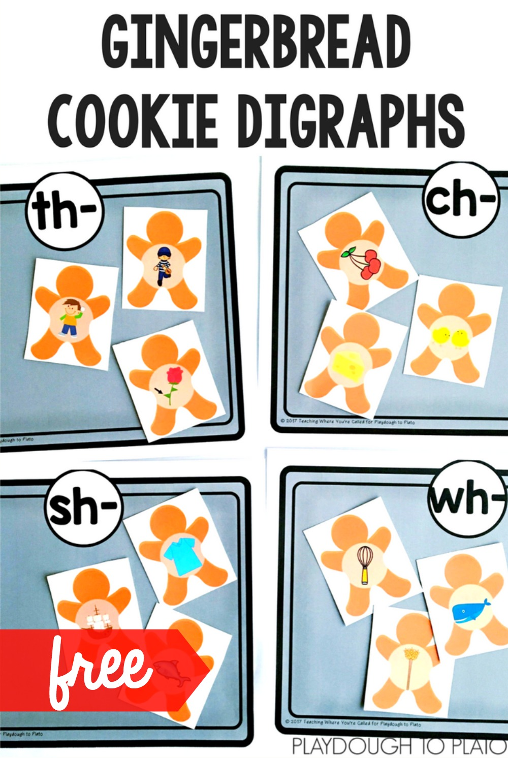 Gingerbread Cookie Digraphs