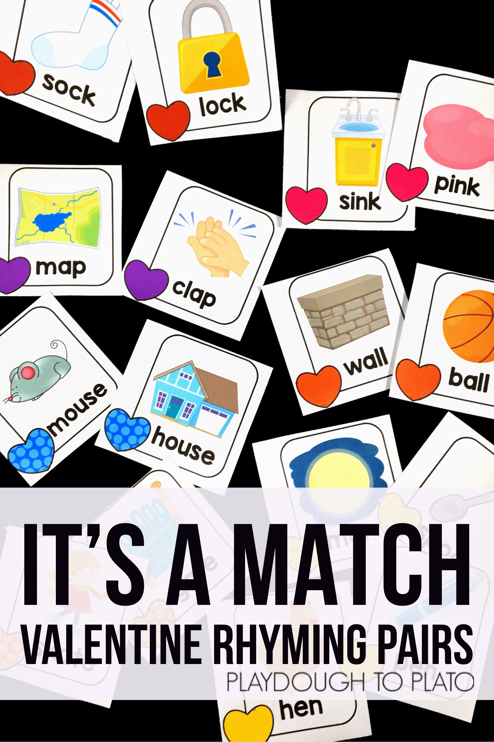 Valentine Rhyming Match Up