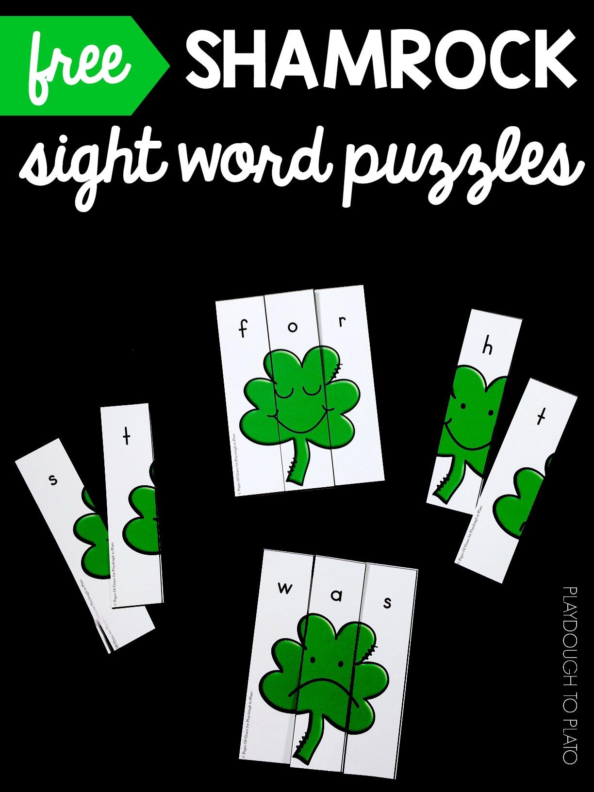 Shamrock Sight Word Puzzles