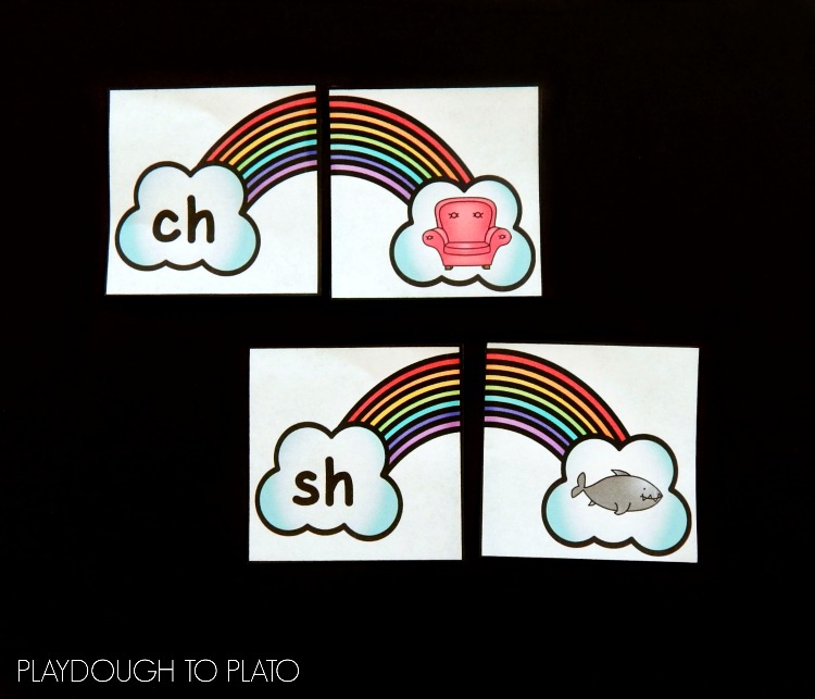 Rainbow Digraph Puzzles Playdough to Plato