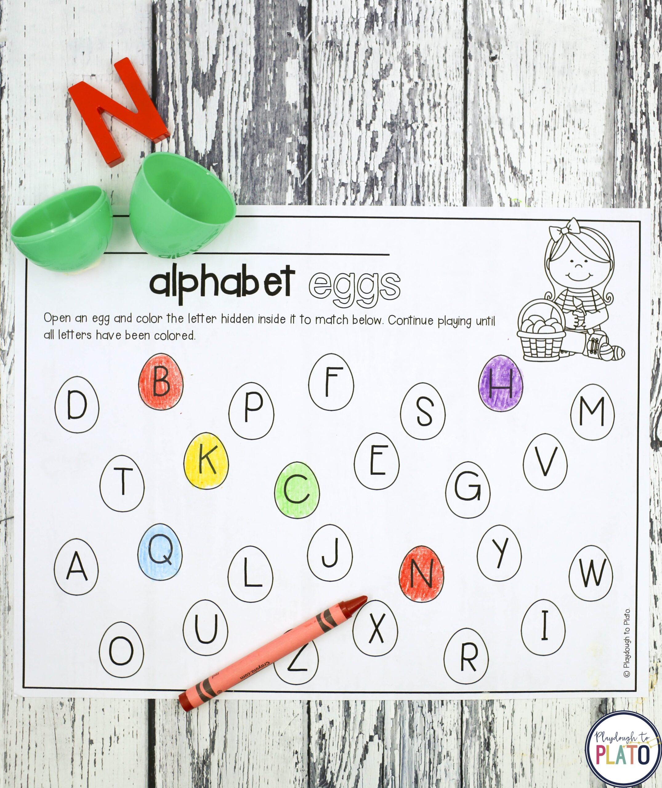 Alphabet Easter Eggs
