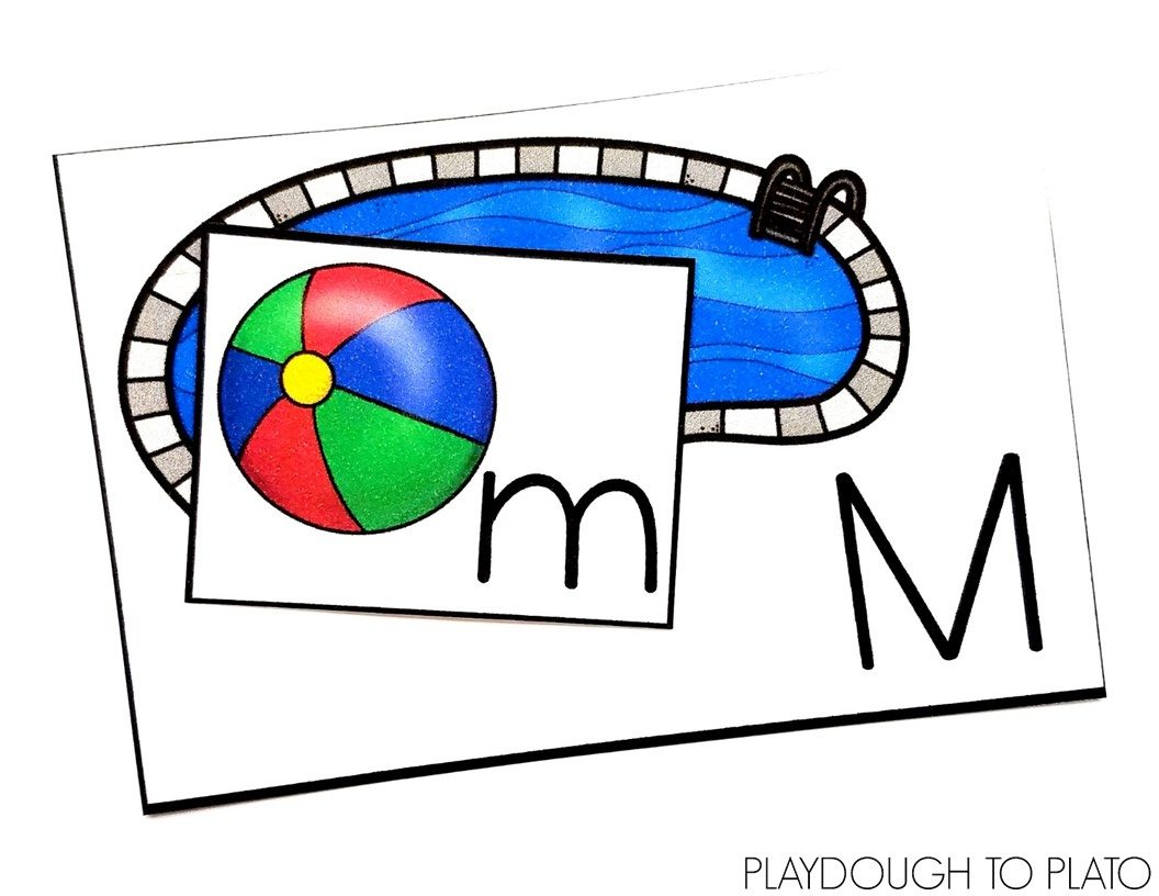 Pool and Beach Ball Alphabet Match