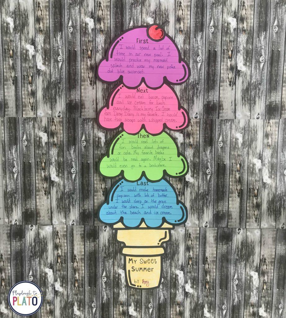 Ice Cream Craftivity by Playdough to Plato