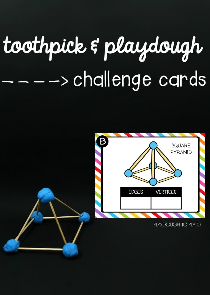 photograph about Building With Toothpicks and Marshmallows Printable referred to as Toothpick STEM Constructions - Playdough Toward Plato