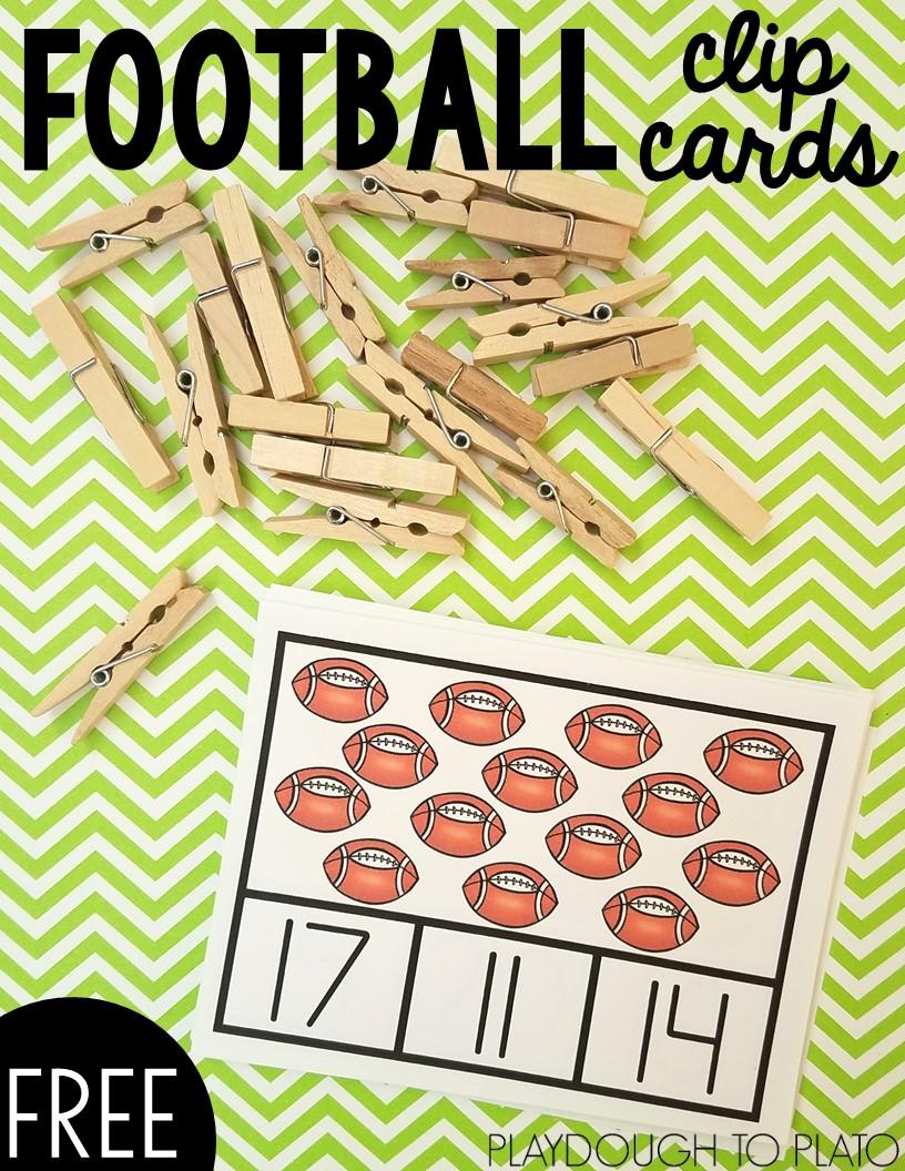 Football Clip Cards