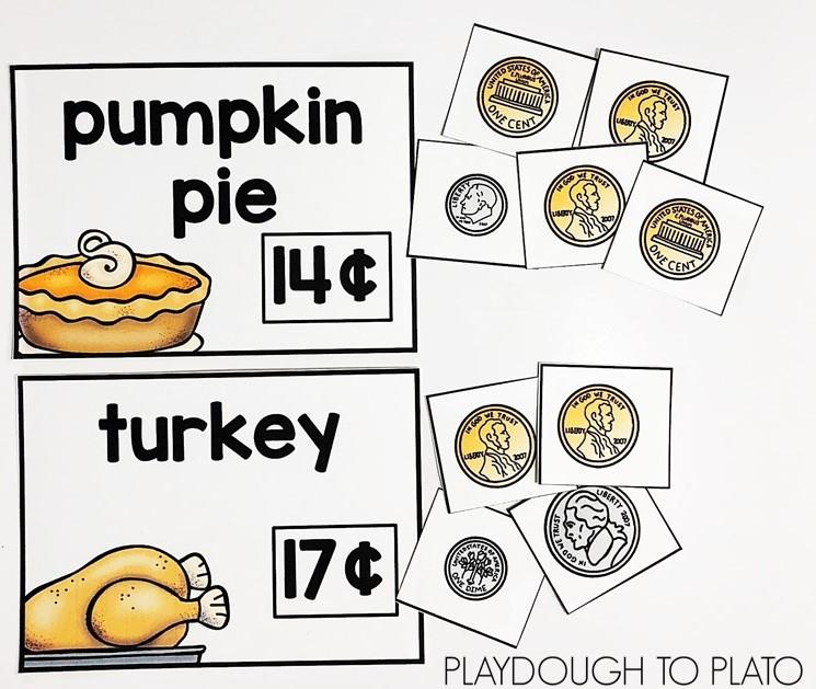Thanksgiving Money Activity