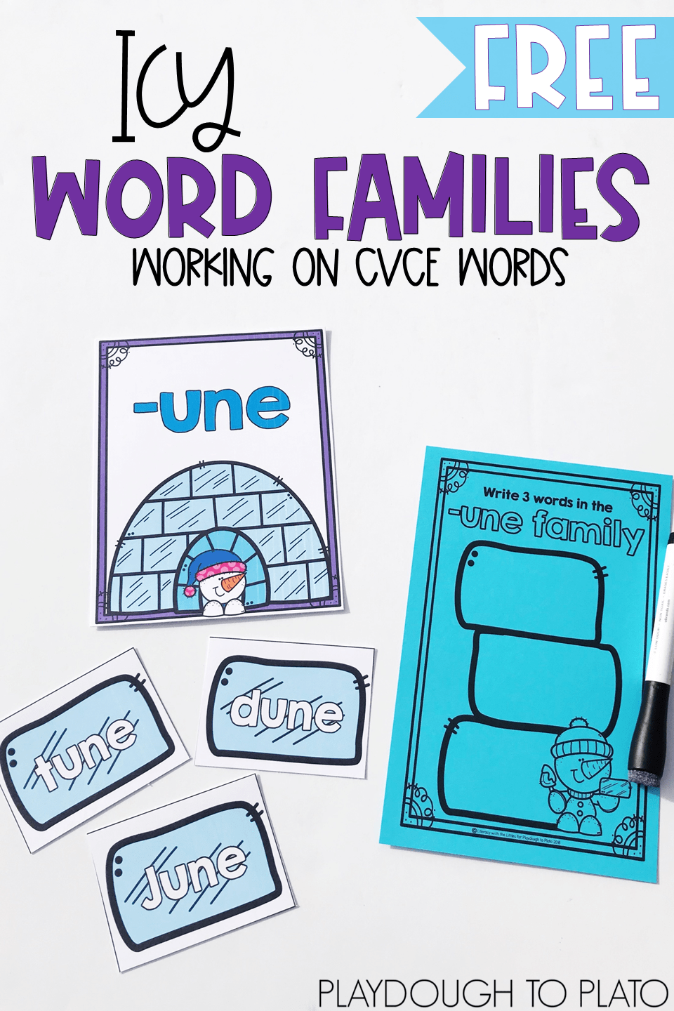 Icy Word Family Sort
