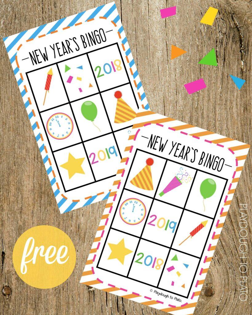 New Year's Eve Bingo - Playdough To Plato