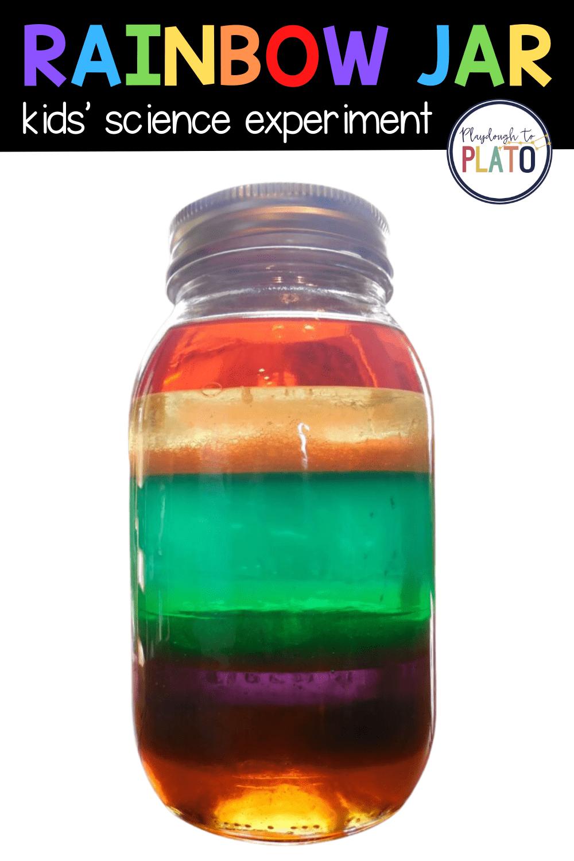 Rainbow Jar Playdough To Plato