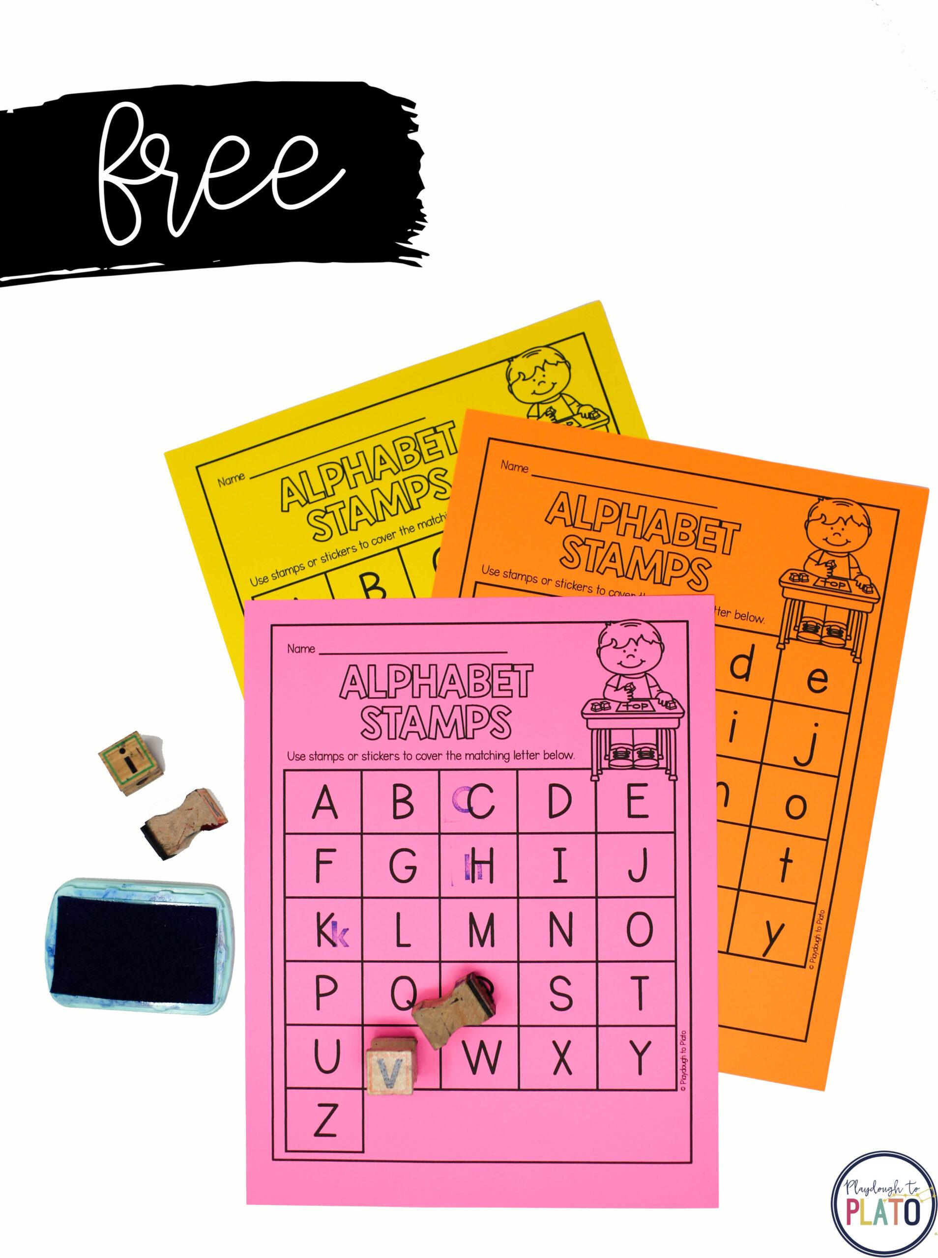 Alphabet Stamping Sheet