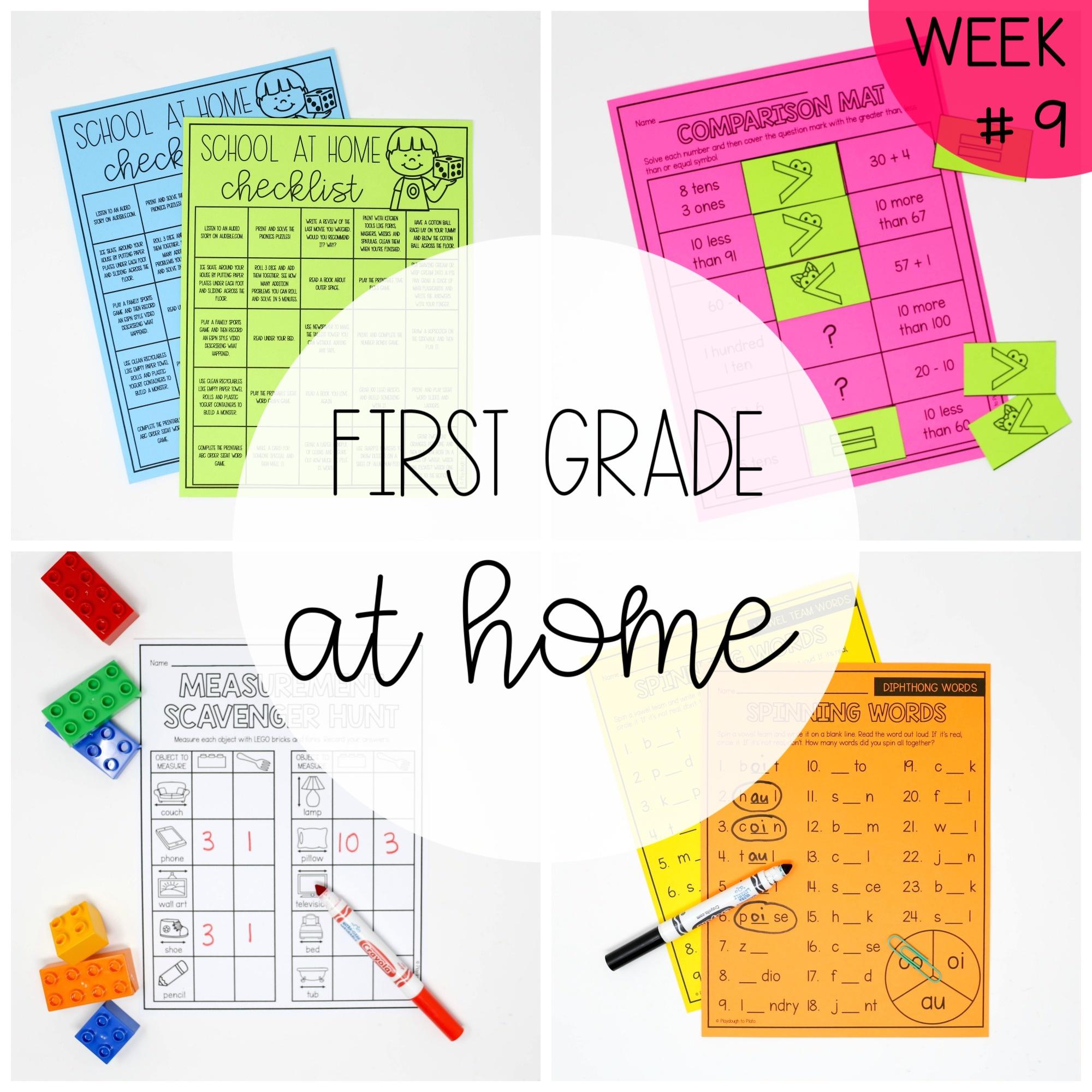 First Grade at Home – Week Nine