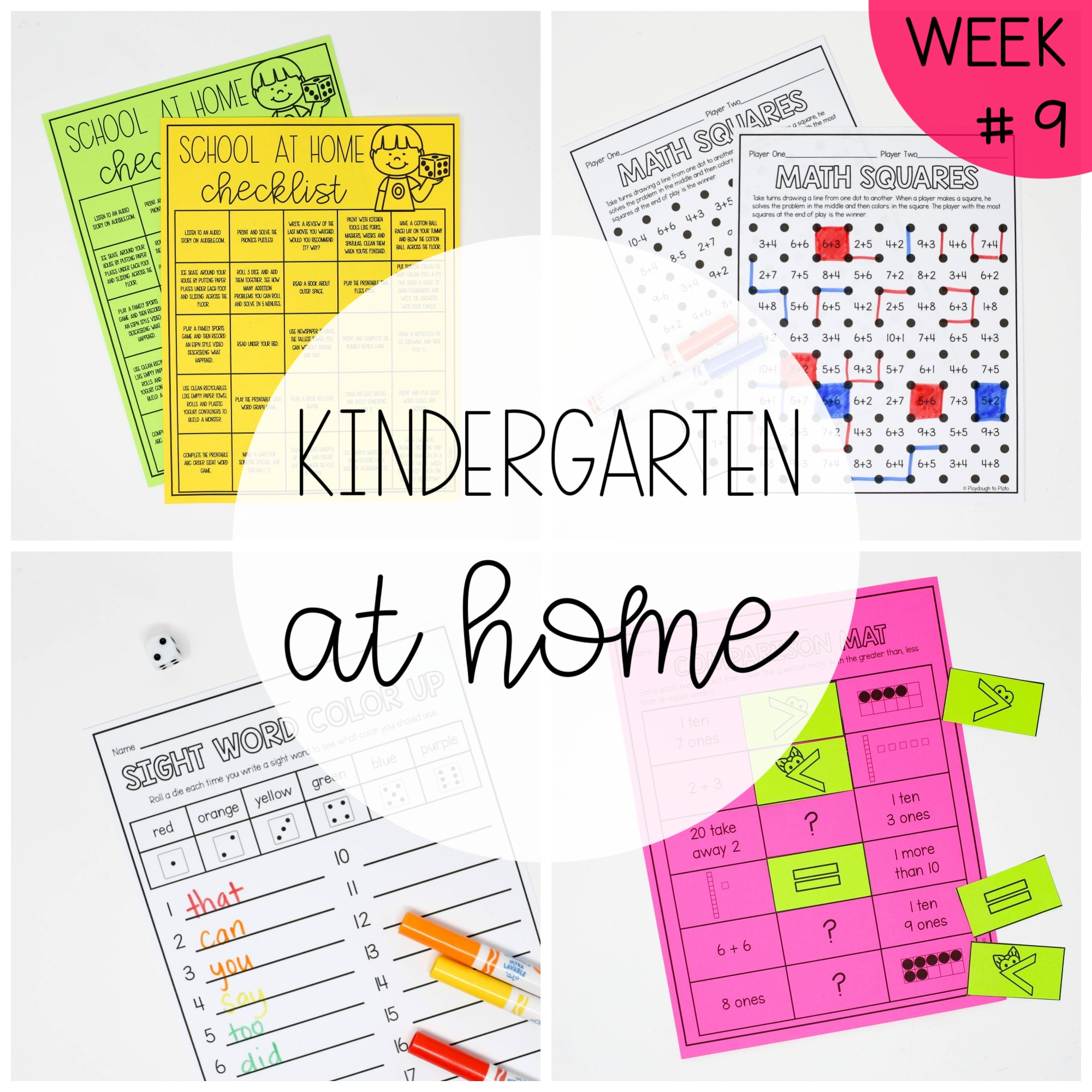 Kindergarten at Home – Week Nine
