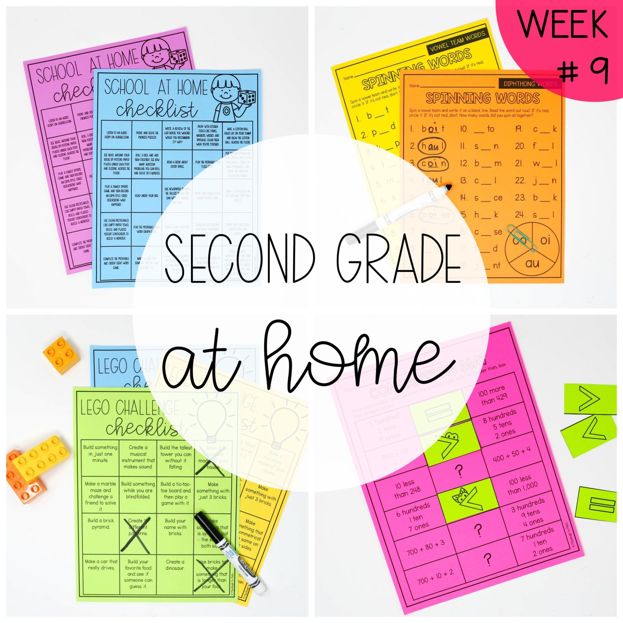 Second Grade at Home – Week Nine