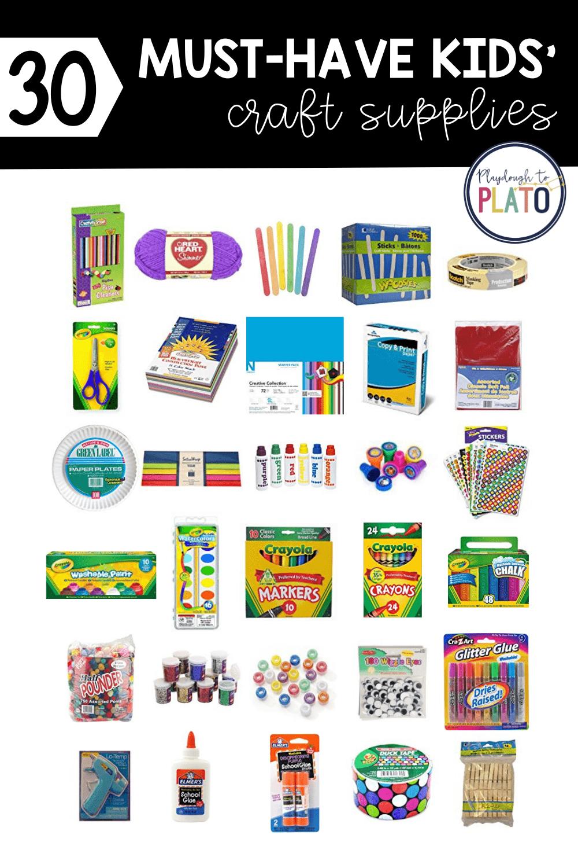 30 Must-Have Kids' Craft Supplies