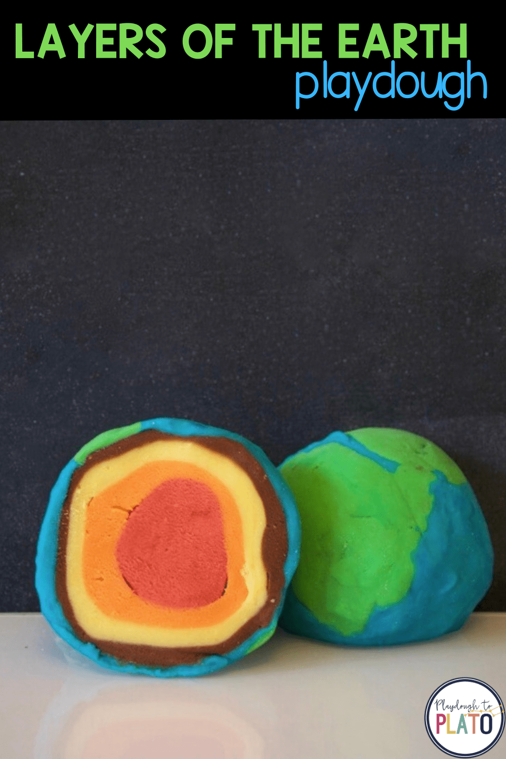 Layers of the Earth Playdough