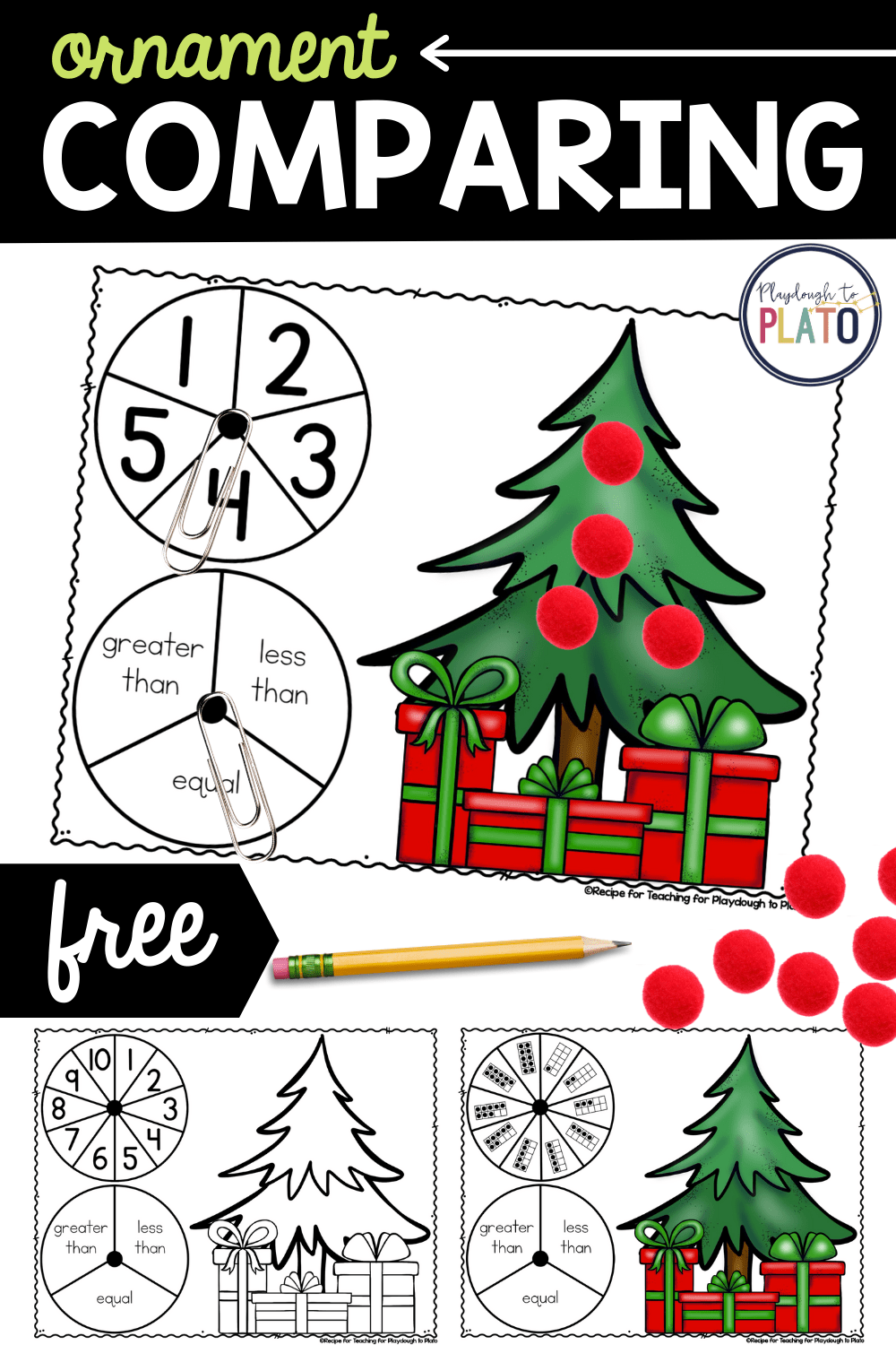 Ornament Comparing Numbers Activity