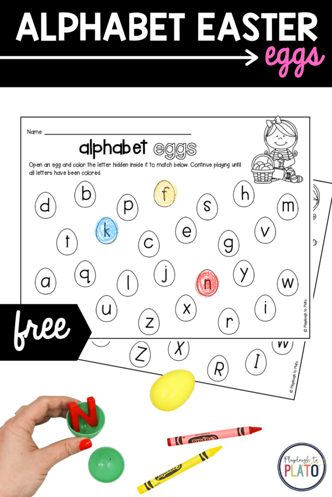 Alphabet Easter Eggs Activity – Playdough To Plato – starkidslearn.com