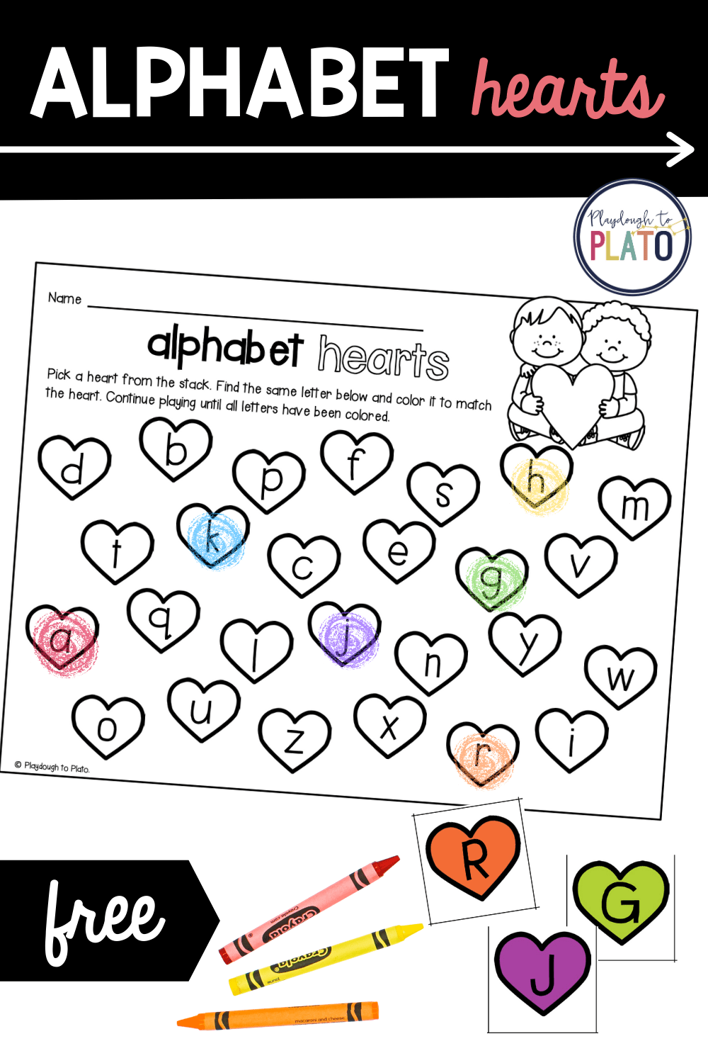 Alphabet Hearts Activity