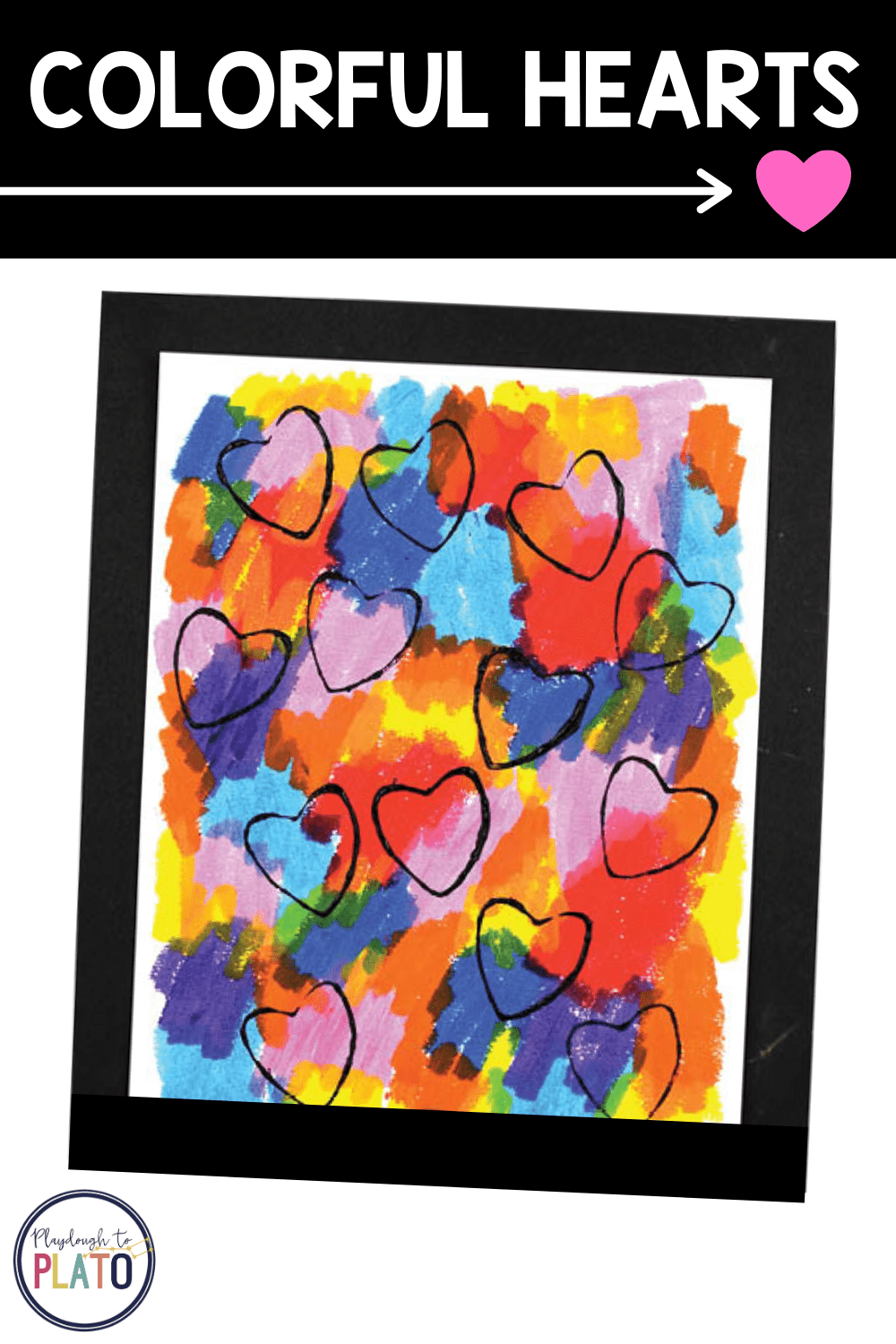 Valentine's Day Art: Colorful Hearts