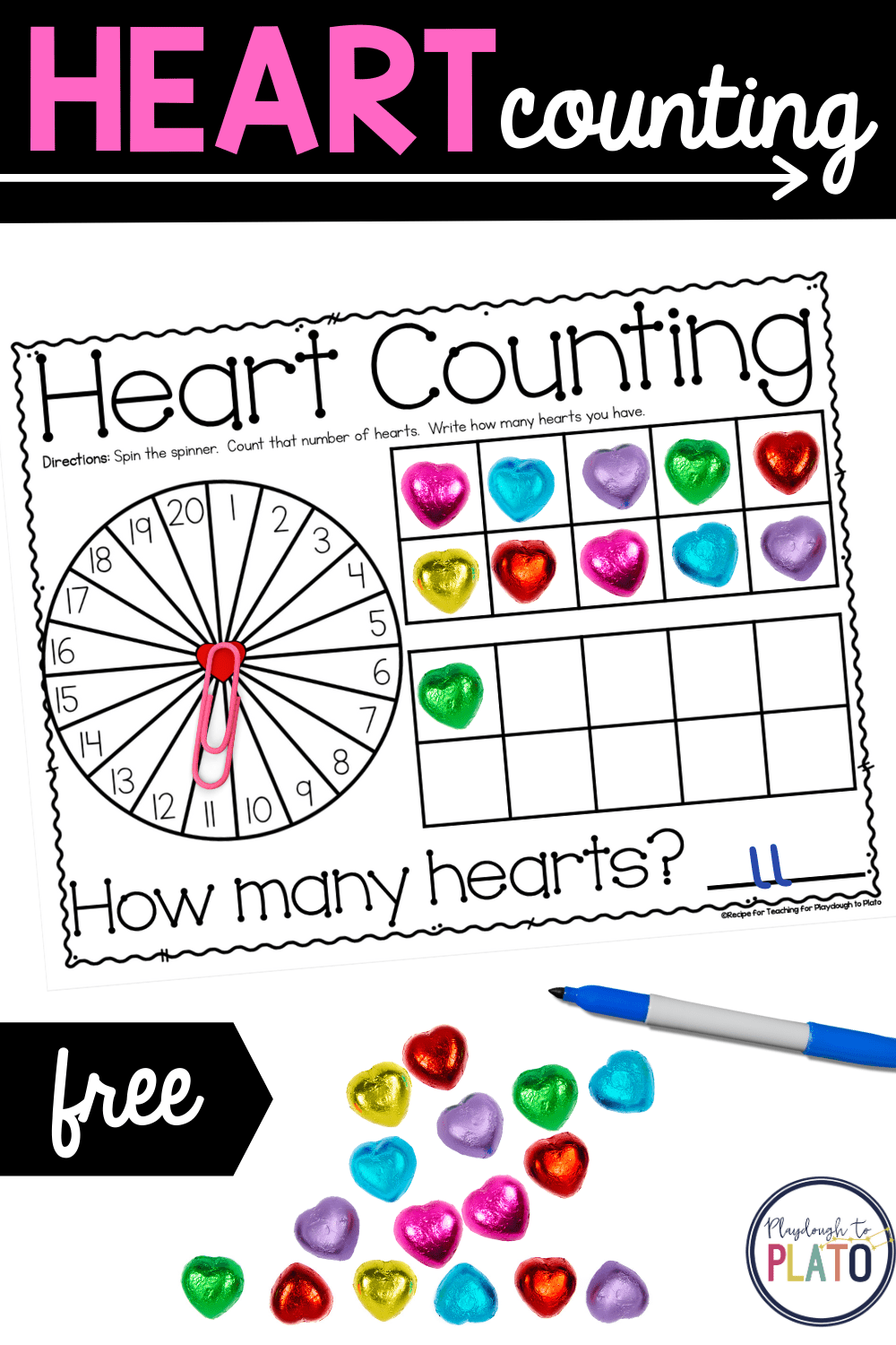 Heart Counting Mats
