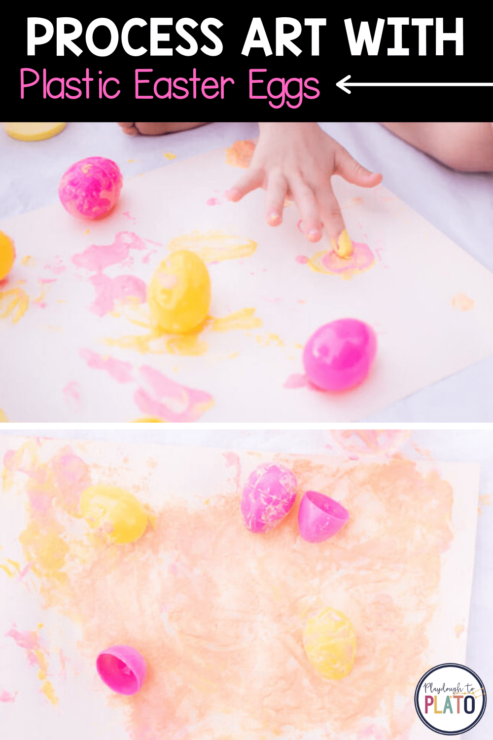 Process Art Activity with Plastic Easter Eggs