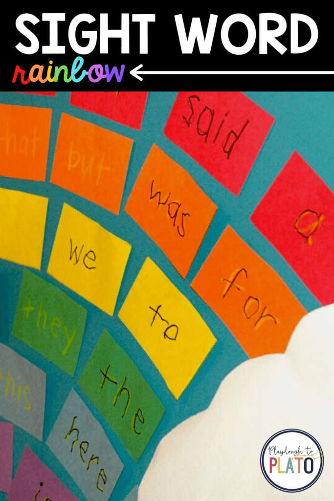 This rainbow words activity is a great way to learn sight words.
