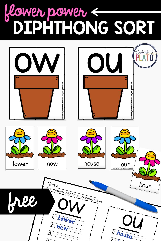 Flower Power Diphthong Activity