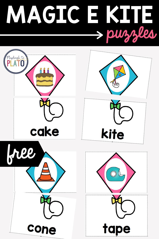 Magic E Kite Puzzles